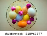 easter eggs are tender in a... | Shutterstock . vector #618963977
