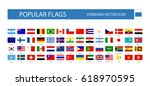 popular flags standard flat... | Shutterstock .eps vector #618970595