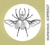 vector illustration. beetle... | Shutterstock .eps vector #618980627