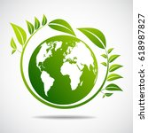 ecology concept. save world   Shutterstock .eps vector #618987827
