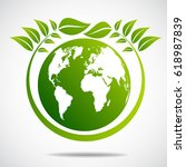 ecology concept. save world | Shutterstock .eps vector #618987839