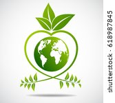 ecology concept. save world | Shutterstock .eps vector #618987845