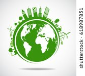 ecology concept. save world | Shutterstock .eps vector #618987851