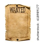 wanted for reward poster 3d... | Shutterstock . vector #618989177