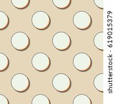 retro dots pattern. abstract... | Shutterstock .eps vector #619015379
