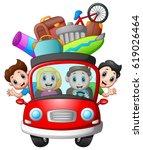 vector illustration of family... | Shutterstock .eps vector #619026464