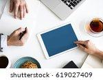 digital device planning... | Shutterstock . vector #619027409