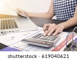 business accountant with...   Shutterstock . vector #619040621