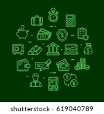 banking and accounting icon... | Shutterstock .eps vector #619040789