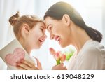 happy mother's day  child... | Shutterstock . vector #619048229