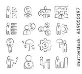 hand drawn business management... | Shutterstock .eps vector #619050197