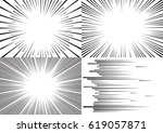 four templates for comic... | Shutterstock .eps vector #619057871