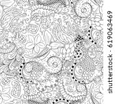 tracery seamless pattern.... | Shutterstock .eps vector #619063469