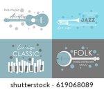 music logo. music festival ... | Shutterstock .eps vector #619068089