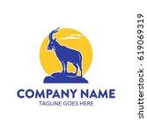 unique ibex logo template vector | Shutterstock .eps vector #619069319