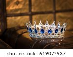 royal luxury gold crown with... | Shutterstock . vector #619072937
