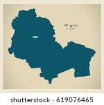 wigan borough greater... | Shutterstock .eps vector #619076465