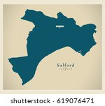 salford borough greater... | Shutterstock .eps vector #619076471
