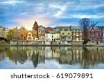 Small photo of Old buildings on the bank of Meuse (Maas) river on sunrise in Namur, Wallonia, Belgium (colorful HDR image)