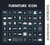furniture icons   | Shutterstock .eps vector #619081541
