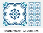 vintage antique design patterns ... | Shutterstock .eps vector #619081625