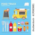 street food drink truck  | Shutterstock . vector #619083881