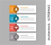 4 steps of infographic with... | Shutterstock .eps vector #619084661
