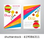 colorful vector business... | Shutterstock .eps vector #619086311