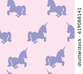 seamless pattern with unicorns. ...   Shutterstock .eps vector #619088141