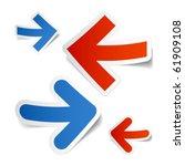 arrows stickers. vector. | Shutterstock .eps vector #61909108