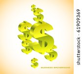 abstract background with dollar.... | Shutterstock .eps vector #61909369