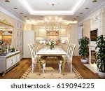 luxurious classic baroque... | Shutterstock . vector #619094225