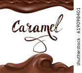 liquid chocolate  caramel or... | Shutterstock .eps vector #619098401