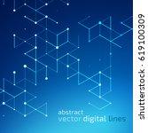 abstract vector dot pattern.... | Shutterstock .eps vector #619100309