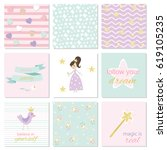 collection of backgrounds for... | Shutterstock .eps vector #619105235