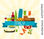 italy background design.... | Shutterstock .eps vector #619107995