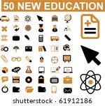 50 new education signs. vector | Shutterstock .eps vector #61912186
