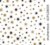 star seamless pattern. holiday... | Shutterstock .eps vector #619128035
