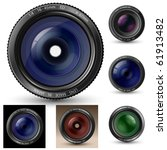 camera lens collection. a... | Shutterstock .eps vector #61913482