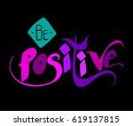 vector hand lettered... | Shutterstock .eps vector #619137815