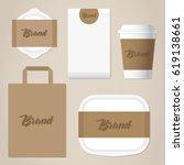 business stationery mock up for ... | Shutterstock .eps vector #619138661