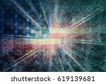 usa flag abstract stripes... | Shutterstock . vector #619139681