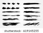 grunge brush strokes.hand... | Shutterstock .eps vector #619145255
