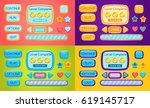 set of game interface. vector...