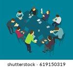 table talks. team business... | Shutterstock .eps vector #619150319