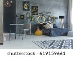 studio flat for hipster with... | Shutterstock . vector #619159661