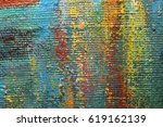 artists oil paints multicolored ... | Shutterstock . vector #619162139