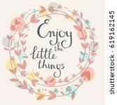 handdrawn vector card.  enjoy...   Shutterstock .eps vector #619162145