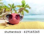 on the beach | Shutterstock . vector #619165265