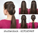 tutorial photo step by step of... | Shutterstock . vector #619165469